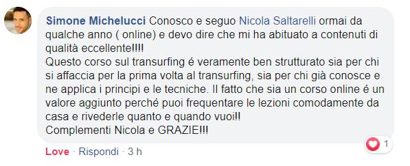 Recensione Corso di Transurfing del Dott. Nicola Saltarelli di Simonene